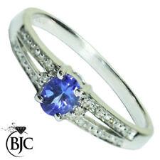 Anelli di lusso con gemme naturale tanzanite Diamante