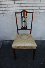 Gorgeous Inlaid English Regency Style Cherry Desk Side Accent Occasional Chair