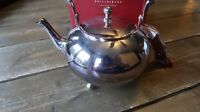 POTTERY BARN SILVER PLATED TASSEL TEAPOT NEW IN ORIGINAL BOX