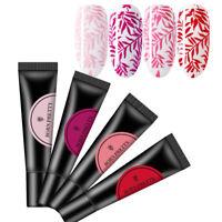 4 Bottles BORN PRETTY Red Pink Nail Stamping Gellack Polish Kit UV Gel DIY 8ml