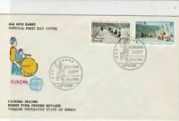 Turkish Federated Cyprus 1981 Europa CEPT Man With Drum FDC Stamps Cover Rf23630