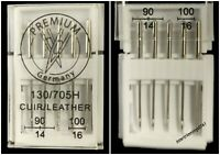 DOMESTIC SEWING MACHINE LEATHER NEEDLES 130/705H, SIZES 90/14 & 100/16, GERMANY