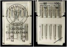 Domestique Machine à Coudre Cuir Aiguilles 130/705H, Tailles 90/14 & 100/16,