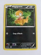 Carte pokémon baggiguane 68/114 commune noir et blanc