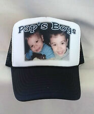 PHOTO HAT Personalized Any Photo Message Design Baseball Trucker Cap