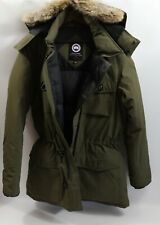 #349A Canada Goose Banff   Down Parka Size L  RETAIL $950 Military Green