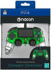 Mando con cable Nacon Compacto Verde Cristal Luz para PS4 PC NUEVOd envio gratis