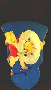 pull out fan: souv. The Narrows Inn, E. Brady, PA 1950s w/kid & trained pigs
