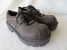 Ladies Mudd Lace Up Oxford Shoes Round Toe Lug Sole Brown Size 6.5  #305