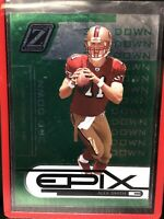 2005 Donruss Zenith Green Epix Alex Smith Rookie Card San Francisco 49ers