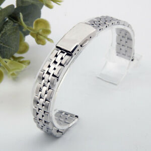 NEW Stainless Steel Watch Strap Band Bracelet Double Deployment Buckle 10-22mm