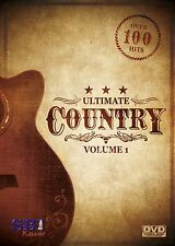 ULTIMATE COUNTRY VOL 1 SBI KARAOKE DVD - 115 HIT SONGS