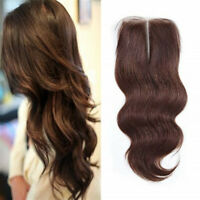 """4x4"""" Brazilian Lace Front Closure Body Wave Virgin Remy Human Hair Extensions"""