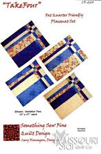 QuiltWoman.com TAKE FOUR Placemat Pattern  Quilting by Cary Flanagan