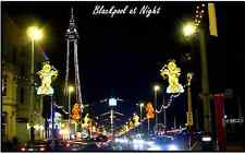 BLACKPOOL AT NIGHT - SOUVENIR NOVELTY FRIDGE MAGNET - SIGHTS / FLAG / GIFTS