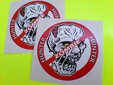 ZOMBIE HUNTER Van Car bumper Motorcycle Camper Stickers Decals 2 off 87mm