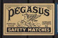 Ancienne étiquette   allumettes Belgique   A520    Pegasse Cheval