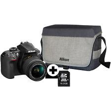 NIKON D3400 Kit Spiegelreflexkamera 24.2 Megapixel mit Objektiv 18-55 mm f/5.6,
