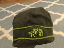 The North Face TNF Beanie gray Green winter snow hat cap Merino Wool