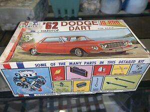 1:25 Vintage Jo-han 1962 Dodge Dart Model Kit With Box And Decals Missing Hood