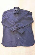 AUTHENTIC BURBERRY LONDON Men's Blue Check Long Sleeve Shirt Size: 17.5 - 44