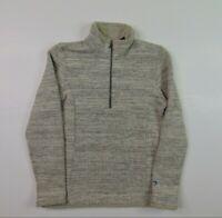 Kuhl Women M 1/4 Zip Fleece Sweater Jacket Pullover Hiking Sherpa Collar Beige