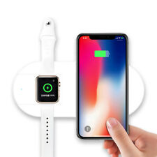 2 IN 1 10W QI Wireless Charger Fast Charging Pad For iPhone 11 X Apple Watch 5 4