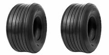 2 (TWO) 16x650-8 16x6.50-8 16x650x8  4 Ply Rated TUBELESS RIBBED TIRES