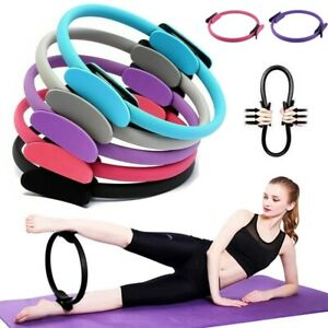 Pilates Ring Yoga Fitness Double Handled Exercise Circle Gym Resistance Wheel