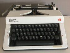 Vintage Olympia Monica De Luxe Typewriter In Case