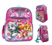"""Paw Patrol School Backpack 12"""" Small Girls Book Bag with Skye Everest Pink"""