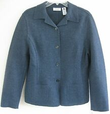 NWT Lord & Taylor jacket 10 Wool bl knit Heathery blue Light Country Unlined