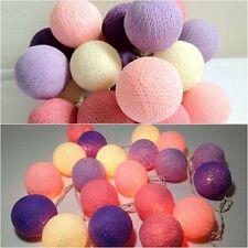 String Light Cotton Ball Pink Purple Patio,Fairy,Home,Garden,Wedding Party New