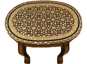 Handmade Moroccan Mother of Pearl Oval Table