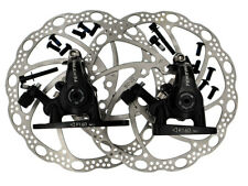 Tektro Flat Mount Dual Side Actuation Road Mechanical Disc Brake Set F&R