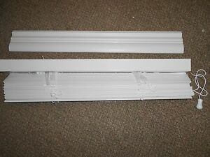 """Blinds 21""""x 60"""" Premium White 2"""" Faux Wood Mobile Home RV Camper Home *NEW*"""