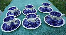 6 Tasses & Sous-Tasses Café - Villeroy & Boch - Rusticana - Coffea cups - Blue
