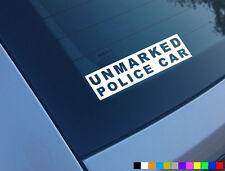 UNMARKED POLICE CAR FUNNY CAR STICKER DECAL JDM JAP DUB WINDOW BUMPER VINYL