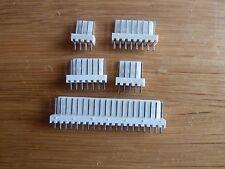 "5 off 4 Way Straight Pin PCB Headers 0.1"" (2.54mm) Connectors  KK"