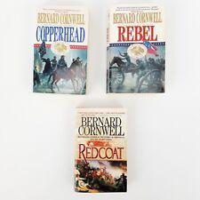 Lot of 3 Bernard Cornwell Civil War Historical Novels Books Rebel/Copperhead/Red