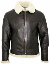 New B3 Brown Bomber World War 2 Pilot Real Leather Flight Bomber Aviator Jacket