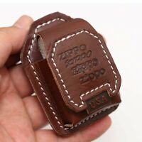 Cigarette Lighter Dermis Genuine Leather Sheath Pouch/Case For Zippo Lighter