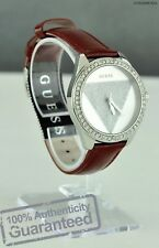 NEWEST! Luxury GUESS Ladies Watch Red Leather U0884L1 USA Designer Style