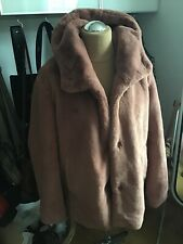 wunderschöne warme jacke altrosa grösse 44 neu cunda webpelz flauschig kapuze