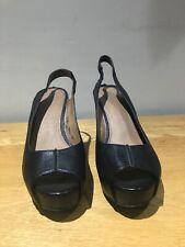 wittner australian designer black shoes sandles leather worn wonce