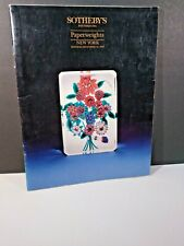 SOTHEBY'S PAPERWEIGHTS 1990 Auction Catalog Ysart Clichu Baccarat Bacchus +