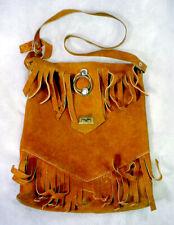 1970's Vintage Leather Suede Festival Fringe Bag Purse Retro Shoulder Hippie Old