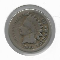 Rare Collectible 1863 Civil War Indian Head Penny Collection Cent Coin LOT:F18
