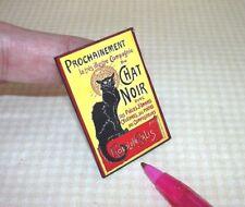"""Miniature """"Chat Noir"""" Poster 1 21/32"""" x 1 5/32"""": DOLLHOUSE 1/12"""
