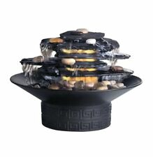 New HoMedics Envirascape Rock Garden Tabletop Relaxation Fountain Illuminated